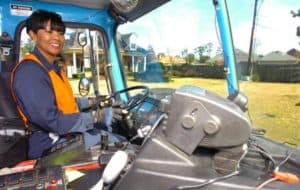 female truck driver physical