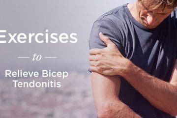 man with bicep pain
