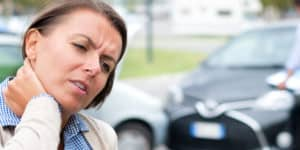 women with whiplash after a car accident